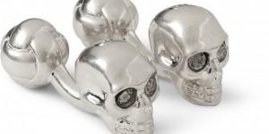 Alexander McQueen Silver Skull Cufflinks