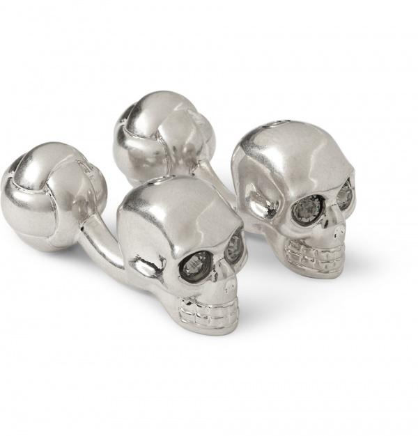 339620 mrp in xl Alexander McQueen Silver Skull Cufflinks
