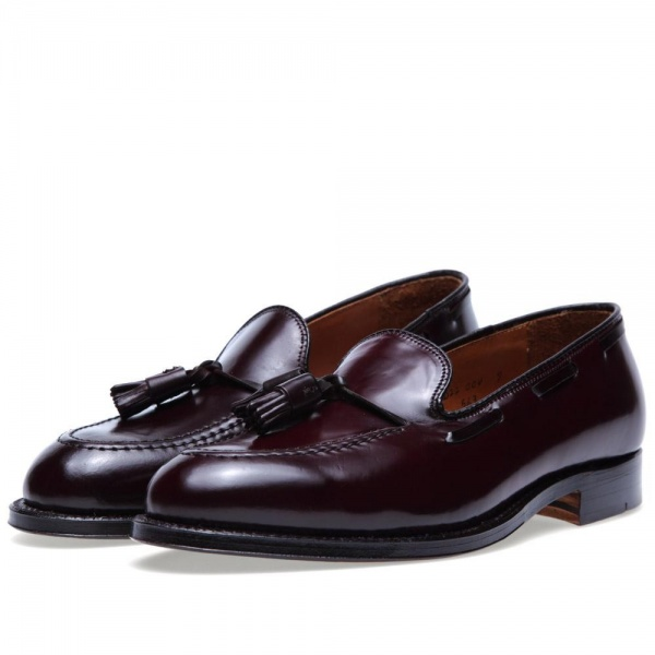 01 03 2013 alden originaltassleloafer darkburgundycordovan  Alden Original Dark Burgundy Cordovan Tassled Loafer