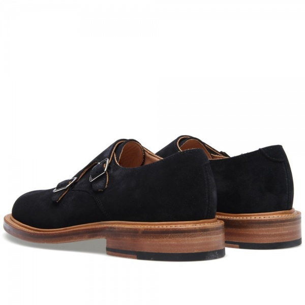 21 03 2013 olispence monkshoe navy d2 Oliver Spencer Suede Monk Strap Shoe