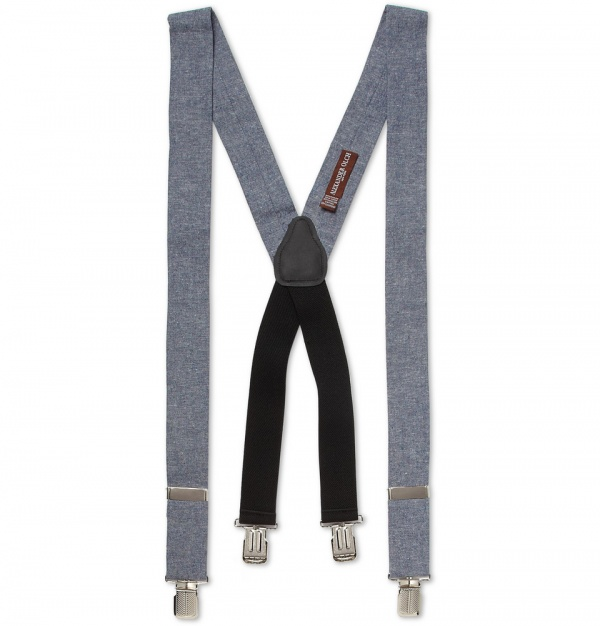 337803 mrp in xl Alexander Olch Cotton Chambray Braces
