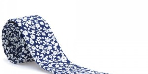 The Hill-Side Selvedge Floral Print Tie
