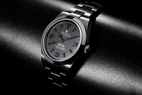 bamford watch department all black dial explorer i 1 Bamford Watch Department All Black Rolex Explorer 1 Watch