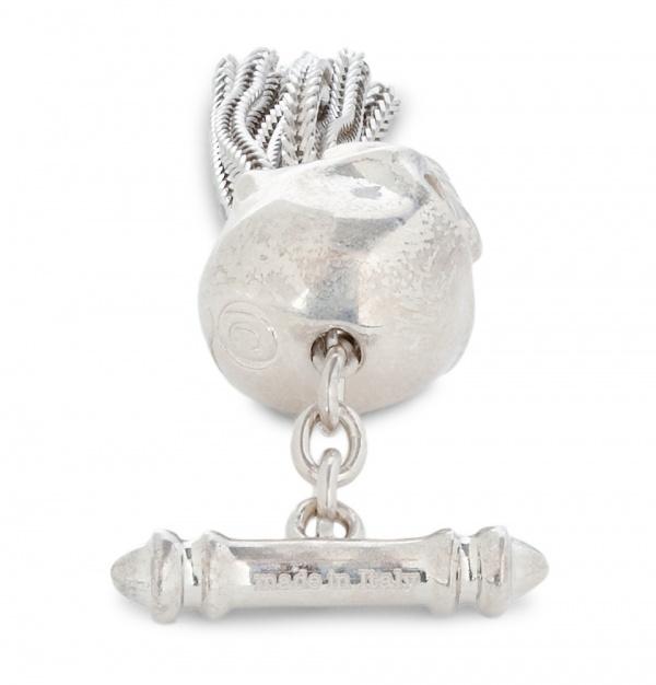 359677 mrp bk xl Alexander McQueen Tassled Silver Skull Cufflinks
