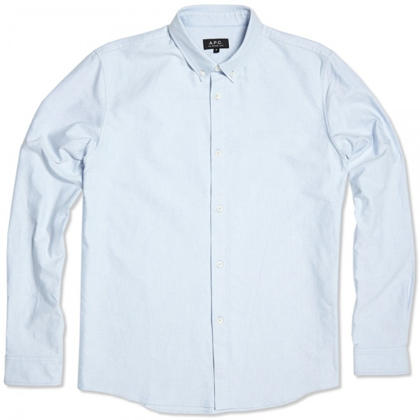 20 06 2013 apc shirt blue  A.P.C Oxford Button Down Shirt