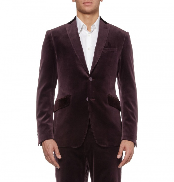 359558 mrp fr xl Etro Contrast Collar Velvet Suit Jacket