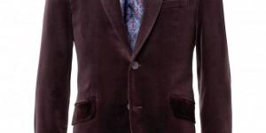 Etro Contrast-Collar Velvet Suit Jacket