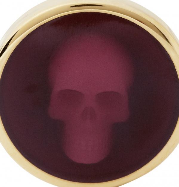359676 mrp cu xl Alexander McQueen Skull Enameled Cufflinks