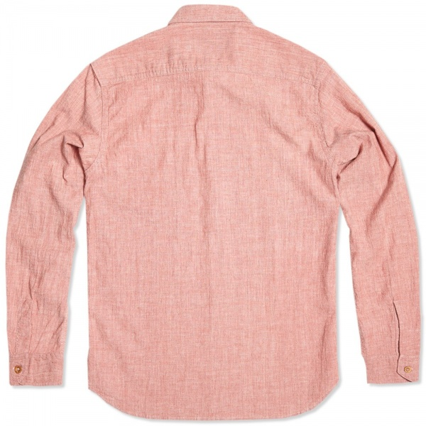 26 07 2013 bdp shirt red d4 Bleu de Paname Standard Shirt In Rose Chambray