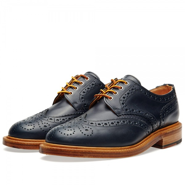 30 07 2013 mm leathersolecountrybrogue navy1 Mark McNairy Country Brogue