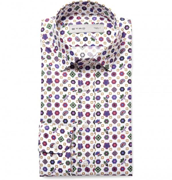 359573 mrp in xl Etro Printed Cotton Shirt