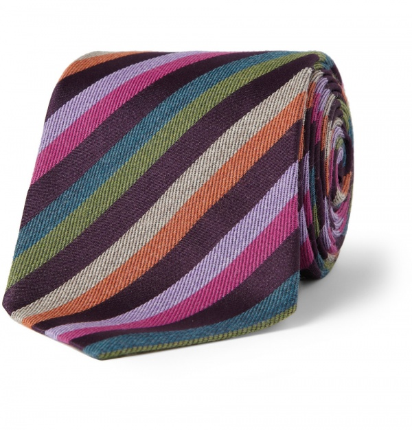 359588 mrp in xl Etro Striped Wool & Silk Tie