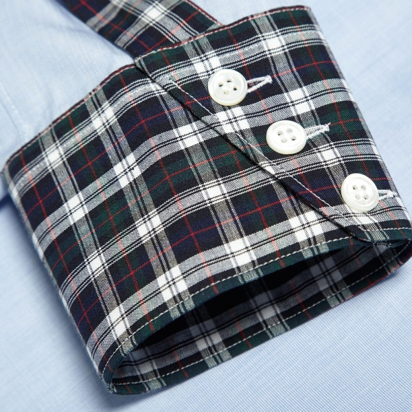 08 08 2013 cdgshirt tartancollar sky 6 1 Comme des Garcons SHIRT Tartan Collar Dress Shirt