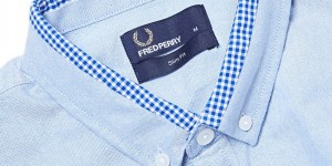 Fred Perry Gingham Tipped Oxford Shirt 1