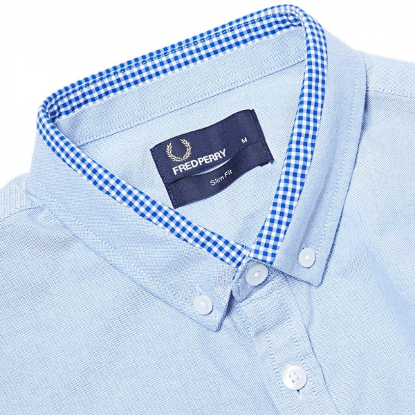 20 08 2013 fp tippedoxfrod 2 Fred Perry Gingham Tipped Oxford Shirt