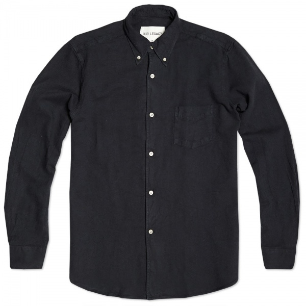 20 08 2013 ol 1950button drknavy 1 Our Legacy 1950s Button Down Shirt