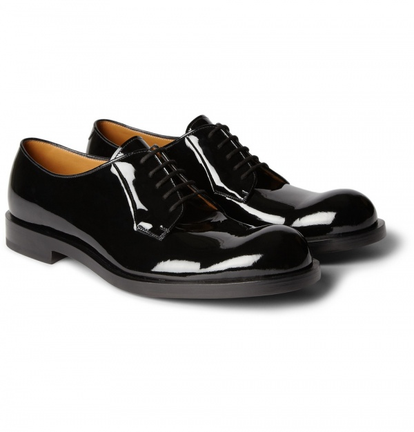 376764 mrp fr xl Jil Sander Betis Patent Leather Derby Shoes