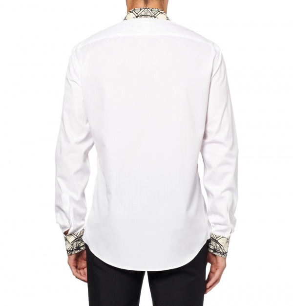 Mcqueen shirt 1 Alexander McQueen Stained Glass Print Shirt