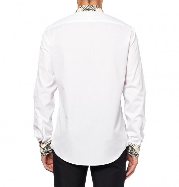 Mcqueen shirt 1 Alexander McQueen Stained Glass Print Shirt