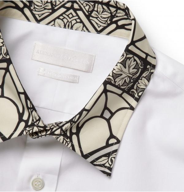Mcqueen shirt 2 Alexander McQueen Stained Glass Print Shirt
