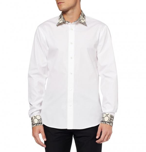 Mcqueen shirt 3 Alexander McQueen Stained Glass Print Shirt