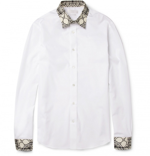 Mcqueen shirt 4 Alexander McQueen Stained Glass Print Shirt