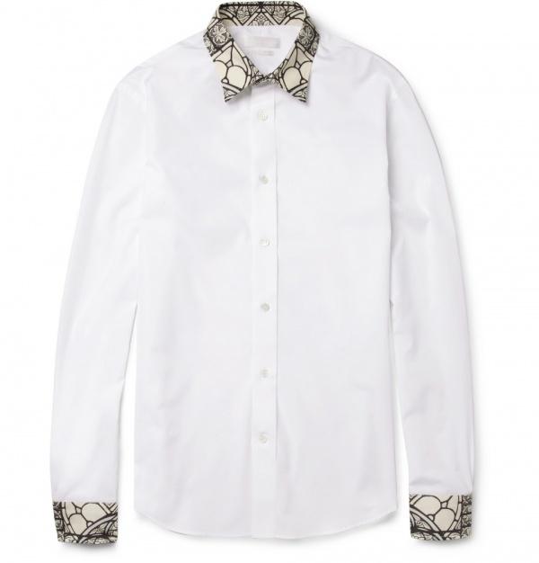 Mcqueen shirt 4 Alexander McQueen Stained Glass Print Shirt