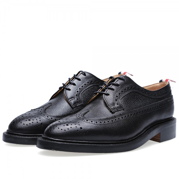 03 07 2013 tb brouguet black1 Thom Browne Long Wing Brogue