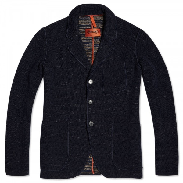 17 09 2013 missoni threebuttonwoolblazer navy1 Missoni Three Button Wool Blazer