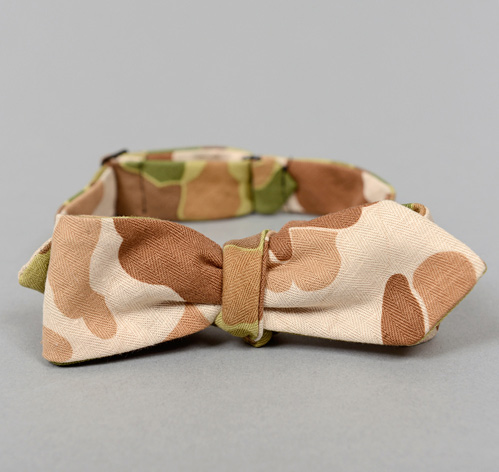 BTN 062 L2 The Hill Side Reversible Camouflage Twill Herringbone Bowtie