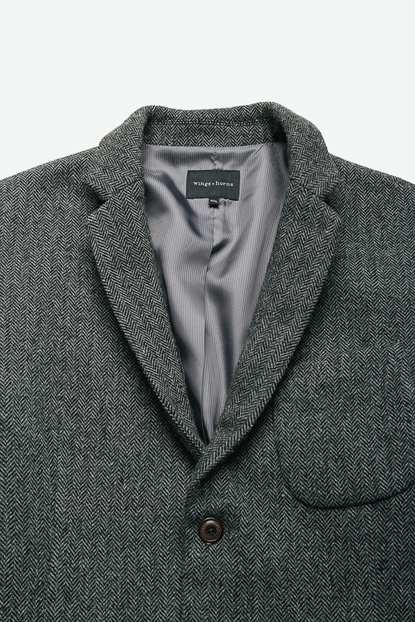 MG 0421 1024x1024 Wings + Horns Herringbone Tweed Blazer