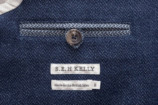 SEH Kelly Herringbone Indigo Jacket 4 630x420 S.E.H. Kelley Indigo Cotton SB1 Jacket