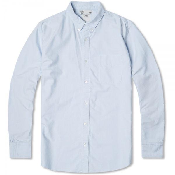 03 04 2014 visvim albacoreflorashirt lightblue Visvim Albacore Floral Accent Button Down Shirt