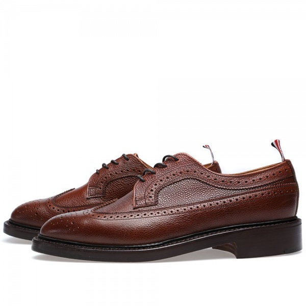 07 02 2014 tb splitweltsolewingtipbrogue brownpebble 2 Thom Browne Split Welt Sole Long Wing Brogue