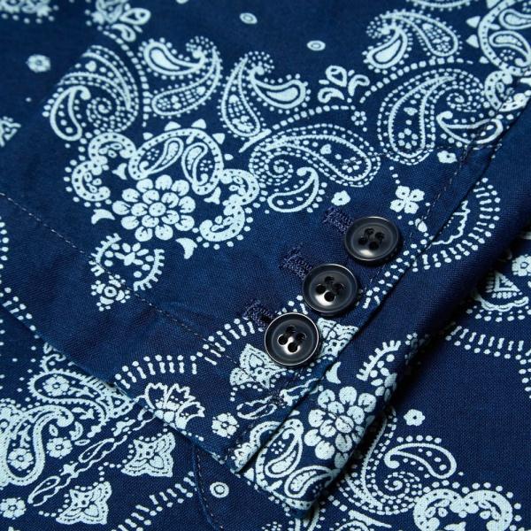 18 04 2014 sophnet indigooxford3buttonjacket bandana d1 Sophnet. Deconstructed 3 Button Blazer