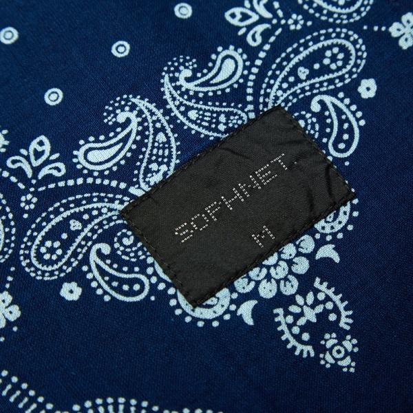 18 04 2014 sophnet indigooxford3buttonjacket bandana d2 Sophnet. Deconstructed 3 Button Blazer