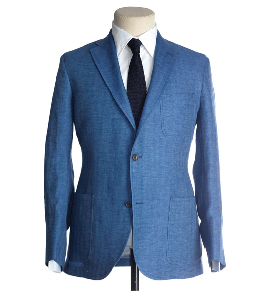 Picture 5 Freemans Sporting Club Freeman Suit In Blue Herring Fabric