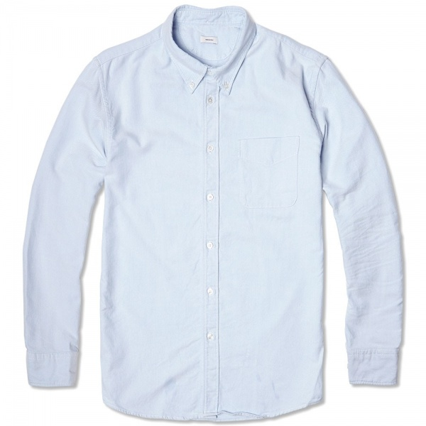 21 05 2014 visvim albacorepatchworkshirt lightblue 1 Visvim Albacore Patchwork Dress Shirt