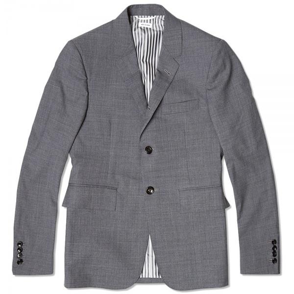 04 02 2014 tb classicsb3buttonjkt medgreywool 1 1 Thom Browne Classic SB 3 Button Blazer