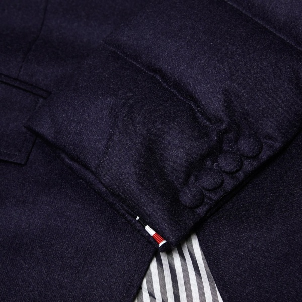 10 06 2014 thombrowne puffablazer navy 7 Thom Browne Down Filled Wool Blazer